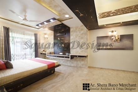 Guest Bedroom: modern Bedroom by Square 9 Designs