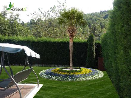 konseptDE Peyzaj Fidancılık Tic. Ltd. Şti. – G.M KONUTU PEYZAJ PROJELENDİRME: modern tarz Bahçe