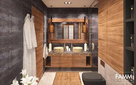 industrial Bathroom by FAMM DESIGN