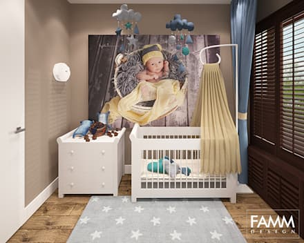 colonial Nursery/kid's room by FAMM DESIGN