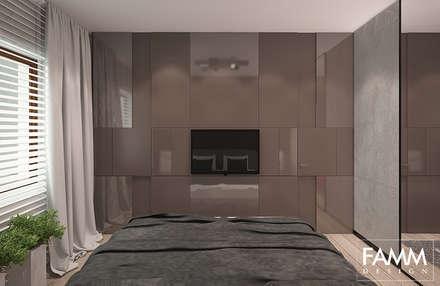 MŁODY MOKOTÓW: styl , w kategorii Sypialnia zaprojektowany przez FAMM DESIGN