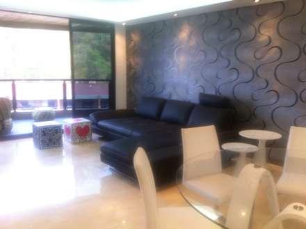Proyecto Lagunita: Salas / recibidores de estilo moderno por THE muebles