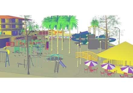 vista áreas recreativas 2: Casas de estilo  por YURAKU SUAREZ