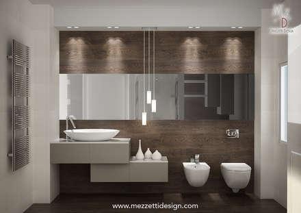 Progetto di un bagno: Bagno in stile in stile Minimalista di Mezzettidesign