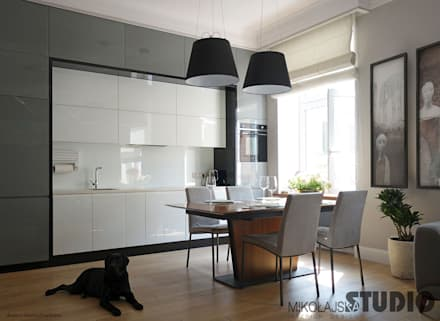 Kamienica Aneks Kuchenny : styl , w kategorii Kuchnia zaprojektowany przez MIKOŁAJSKAstudio