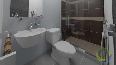 Proyecto Mauricio Enriquez: Baños de estilo moderno por EcoDESING S.A.S DISEÑO DE ESPACIOS CON INGENIO