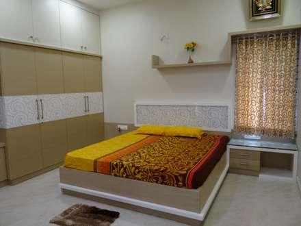 ground floor master bedroom : modern Bedroom by Hasta architects