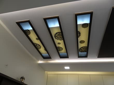 First floor master bedroom ceiling: modern Bedroom by Hasta architects