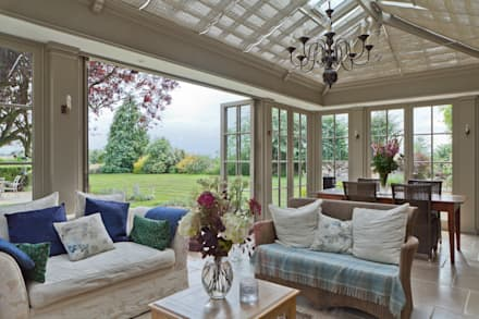 Kitchen Extension Conservatory on a Country Home: classic Conservatory by Vale Garden Houses