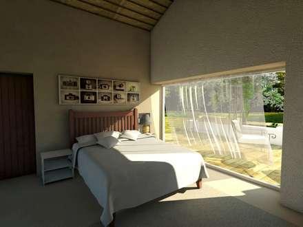 Módulos para turismo rural: Quartos minimalistas por Grupo Norma