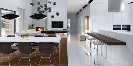 Projekt domu HomeKONCEPT 28: styl , w kategorii Kuchnia zaprojektowany przez HomeKONCEPT   Projekty Domów Nowoczesnych
