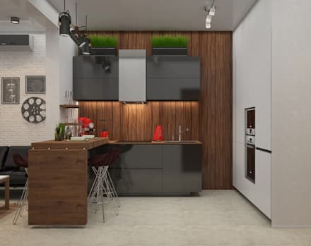 интерьер кухни: Кухни в . Автор – DONJON