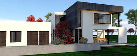 : minimalistic Houses by ARQvision Sustainable Architecture / FASTSTEEL