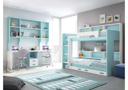 Juvenil: Dormitorios infantiles de estilo moderno de Muebles Soliño