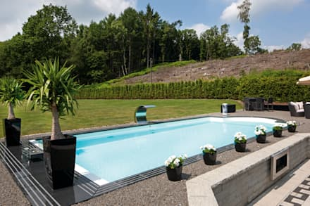 Swimming pool designs ideen und bilder homify for Pool mit teichfolie