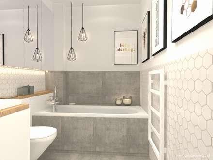 Mieszkanie Białołęka: styl , w kategorii Łazienka zaprojektowany przez Gabinet Wnętrz