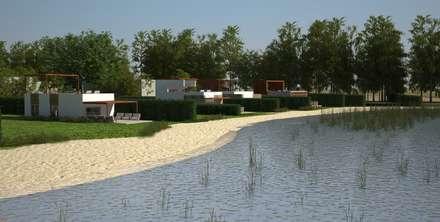 Casas de playa: Casas de estilo moderno por Nicolás Bello