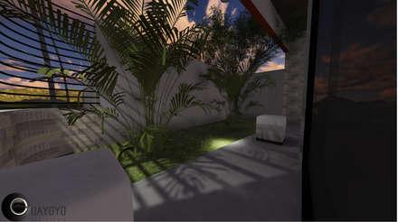 León House: Jardines de estilo moderno por Cup Studio