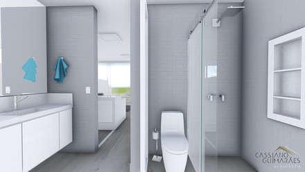 BANHEIRO: Banheiros minimalistas por Cassiano Guimarães - arquiteto