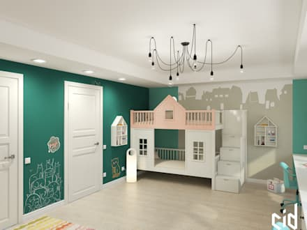 eclectic Nursery/kid's room by Center of interior design