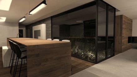 Maison L - Rhône: Cuisine de style de style Moderne par ARRIVETZ & BELLE