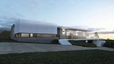 Maison L - Rhône: Maisons de style de style Moderne par ARRIVETZ & BELLE