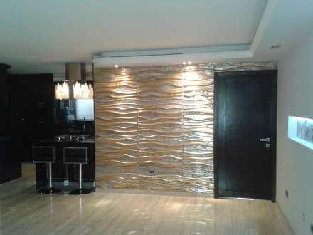 SALÓN SOCIAL: Salas / recibidores de estilo minimalista por CelyGarciArquitectos c.a.