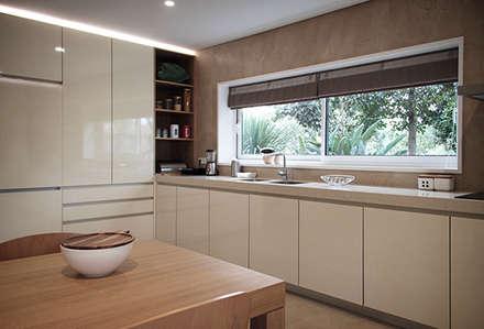 Casa em Lavra, Matosinhos: Cozinhas minimalistas por ASVS Arquitectos Associados