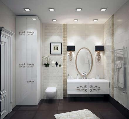 Изысканность стиля - Ванная : classic Bathroom by СТУДИЯ   'ДА' ДАРЬИ АРХИПОВОЙ