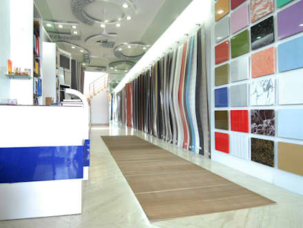 Showroom:  Commercial Spaces by Takeaway Interiors