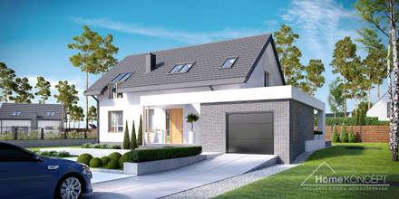 Projekt domu HomeKONCEPT-05: styl nowoczesne, w kategorii Domy zaprojektowany przez HomeKONCEPT | Projekty Domów Nowoczesnych