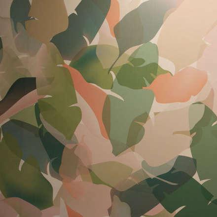 Detalle dl wallcovering en pared principal Agustina Bosch: Espacios comerciales de estilo  de Agustina Barcelona