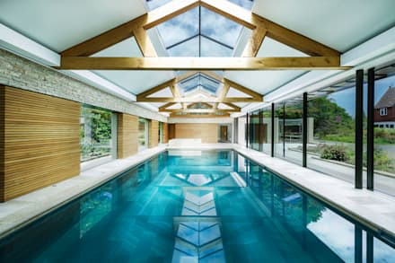 The Pool House: modern Pool by Re-Format LLP