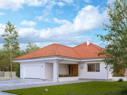 Wizualizacja projektu domu Ariel 5: styl nowoczesne, w kategorii Domy zaprojektowany przez BIURO PROJEKTOWE MTM STYL