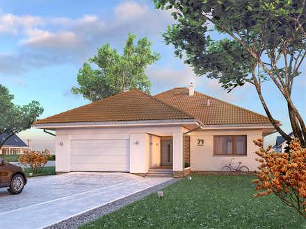 Wizualizacja projektu domu Ariel 6: styl nowoczesne, w kategorii Domy zaprojektowany przez BIURO PROJEKTOWE MTM STYL
