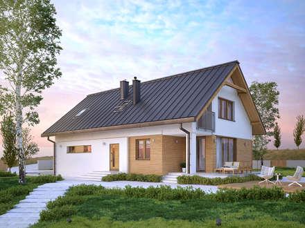 Wizualizacja projektu domu Amarylis: styl nowoczesne, w kategorii Domy zaprojektowany przez BIURO PROJEKTOWE MTM STYL