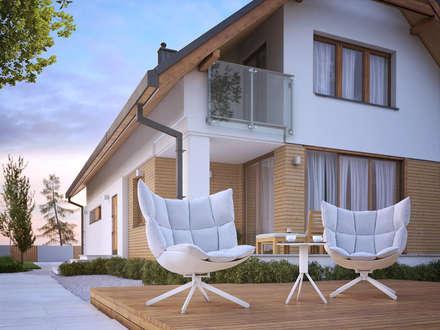 Wizualizacja projektu domu Amarylis: styl nowoczesne, w kategorii Domy zaprojektowany przez Biuro Projektów MTM Styl - domywstylu.pl