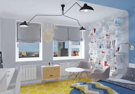 Мужская студия в скандинавском стиле: Спальни в . Автор – construktivno