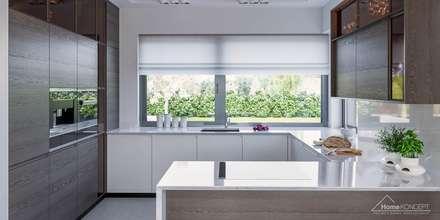 Projekt domu HoemKONCEPT 38: styl nowoczesne, w kategorii Domy zaprojektowany przez HomeKONCEPT | Projekty Domów Nowoczesnych