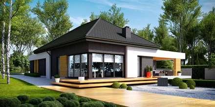Projekt domu HomeKONCEPT-27- wizualizacje: styl nowoczesne, w kategorii Domy zaprojektowany przez HomeKONCEPT | Projekty Domów Nowoczesnych