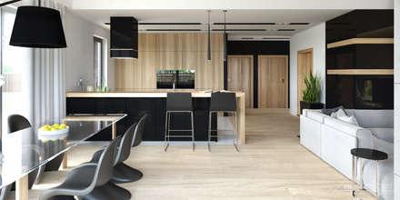 Projekt domu HomeKONCEPT-27- projekty domów z wnętrzami: styl , w kategorii Jadalnia zaprojektowany przez HomeKONCEPT | Projekty Domów Nowoczesnych