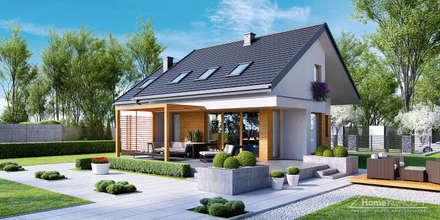 Projekt domu HomeKONCEPT-23- wizualizacje: styl nowoczesne, w kategorii Domy zaprojektowany przez HomeKONCEPT | Projekty Domów Nowoczesnych