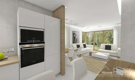 Projekt domu HomeKONCEPT-23- projekty domów z wnętrzami: styl , w kategorii Jadalnia zaprojektowany przez HomeKONCEPT | Projekty Domów Nowoczesnych