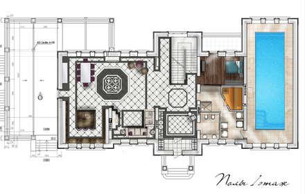 Дом под Санкт-Петербургом: Стены в . Автор – Геометрия Вкуса