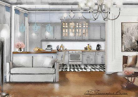 colonial Kitchen by Геометрия Вкуса