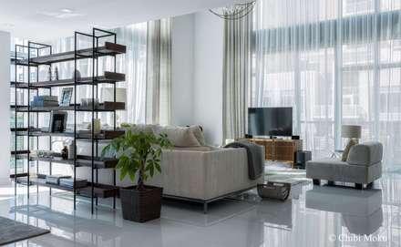 mila design penthouse 7 at 4 midtown interior design 19 moderne wohnzimmer von