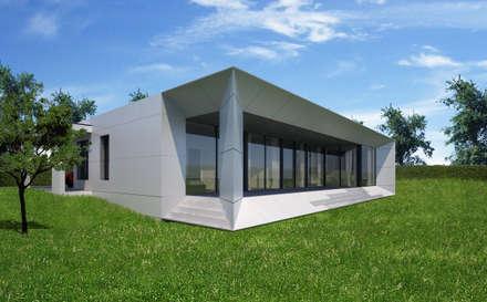 HAUS LHM: moderne Häuser von AL ARCHITEKT