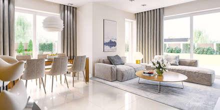 Projekt domu HomeKONCEPT-21- wnętrze: styl , w kategorii Salon zaprojektowany przez HomeKONCEPT | Projekty Domów Nowoczesnych
