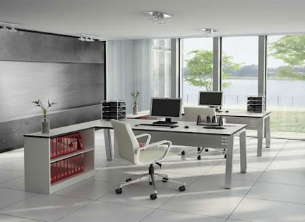 Cold metal: industrial Study/office by Pixers