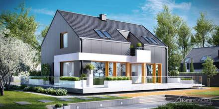 Projekt domu HomeKONCEPT-17: styl nowoczesne, w kategorii Domy zaprojektowany przez HomeKONCEPT | Projekty Domów Nowoczesnych